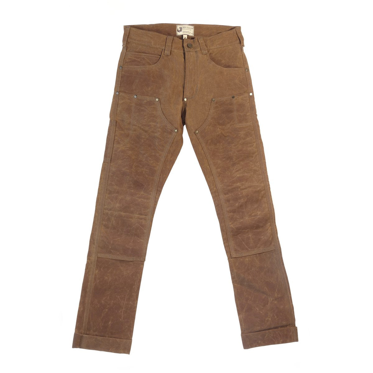 GN.01 Waxed Canvas Fitted Work Pant - Brush Brown