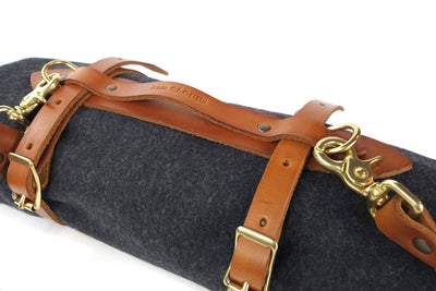 Leather Blanket Carrier, leather blanket strap, shoulder carrier, wool blanket, leather straps, blanket roll, leather blanket roll, leather carrier, blanket straps