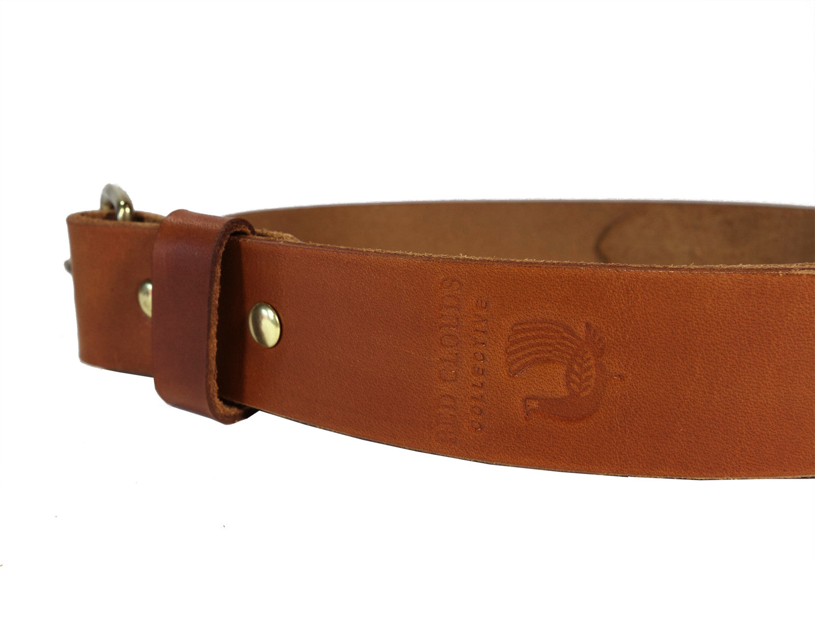 Leather belt, solid brass buckle, handmade, handcrafted, made in the usa, made in america, veg tan leather, built to last, always better with time, red clouds collective