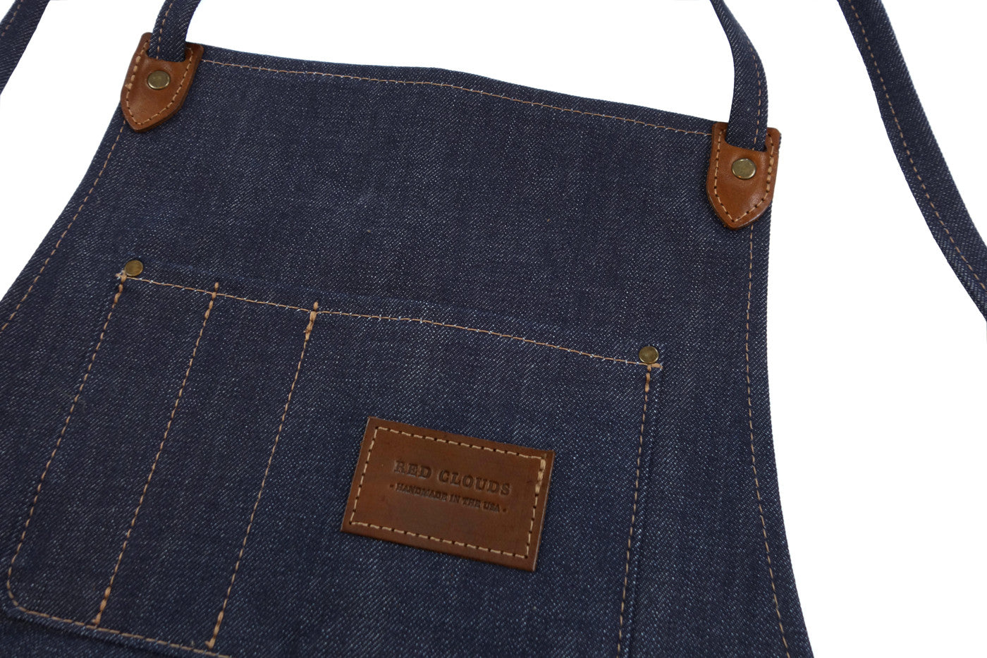Winston apron, denim apron, selvedge denim apron, red clouds apron, selvedge denim, woodworking apron, metalworking apron, hand eye supply, shop gear, workwear, made in usa, made in portland, Drawing inspiration from classic shop aprons used by wood and metal workers for centuries, the Winston Apron combines a classic look and feel with modern feature and construction updates that enhance the product's longevity.