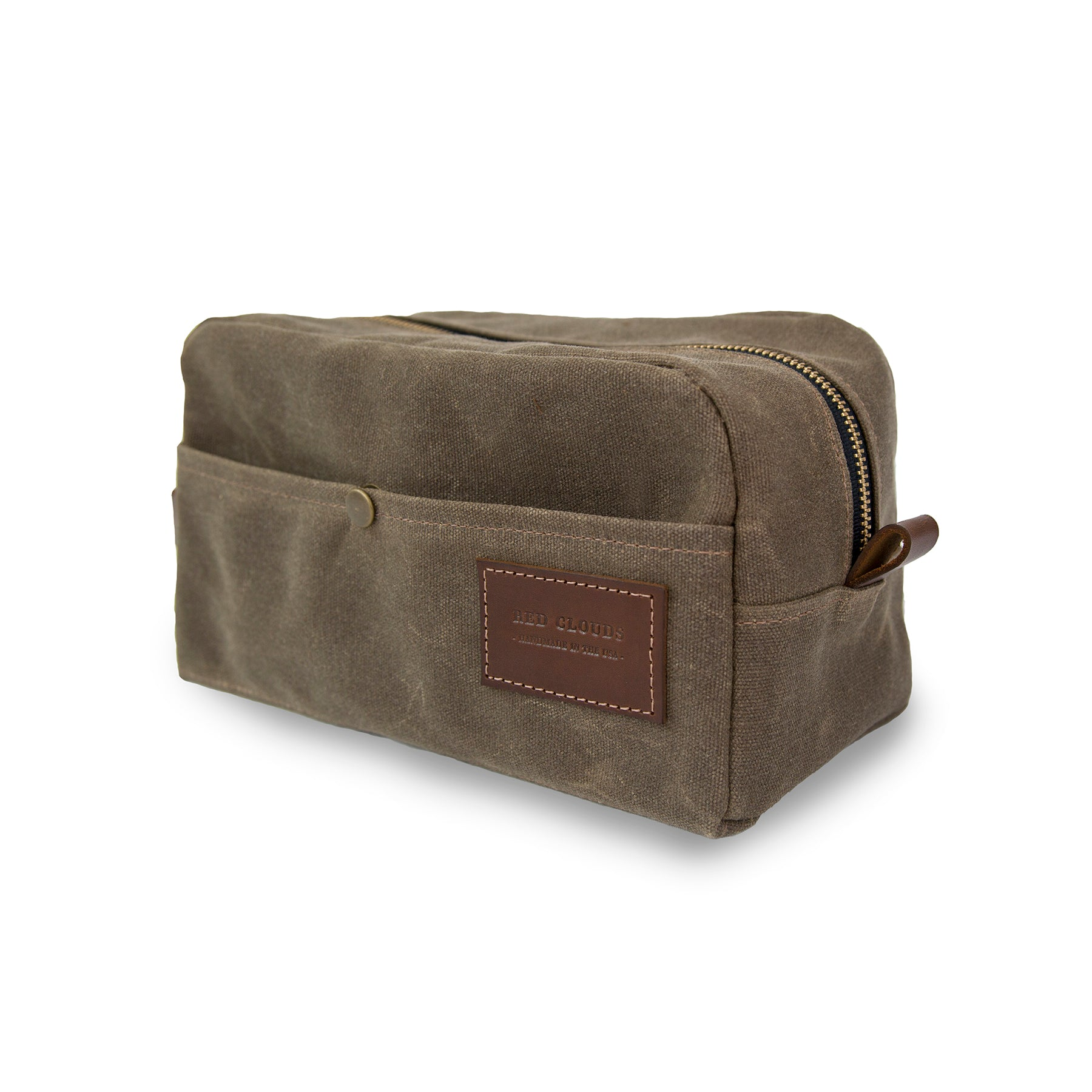 dopp kit, waxed canvas dopp kit, leather dopp kit, travel bag, toiletry bag, travel kit, made in usa, handcrafted, custom bag, portland, made in america, handmade, portland craft, best dopp kit