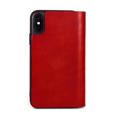 iPhone X leather case, made in the usa, iphone X, iphone wallet, leather iphone X case, new iphone, most recent iphone, iphone update, iphone 10, red leather