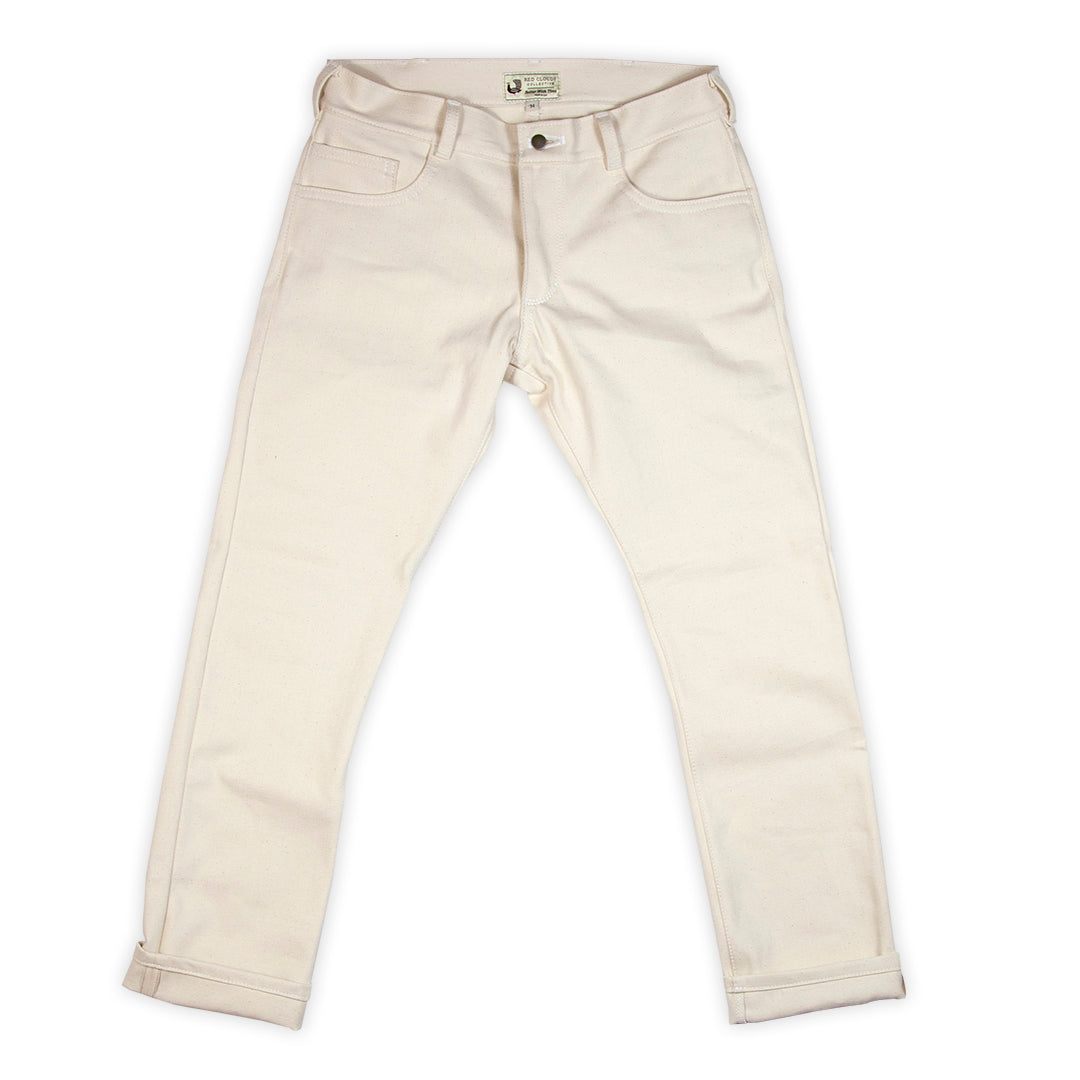 GN.02 Selvage Denim Pants - Natural Cone Mills