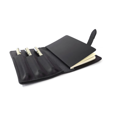 Leather Art Kit, Leather notebook, The Journeyman Art Kit is made with Herman Oak leather. Moleskine notebook and 3 micron pens for a complete traveling art kit.