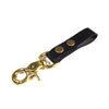 key fob, leather, brass, keychain, snaps