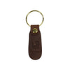 leather keychain, made in usa, walnut, embossed leather