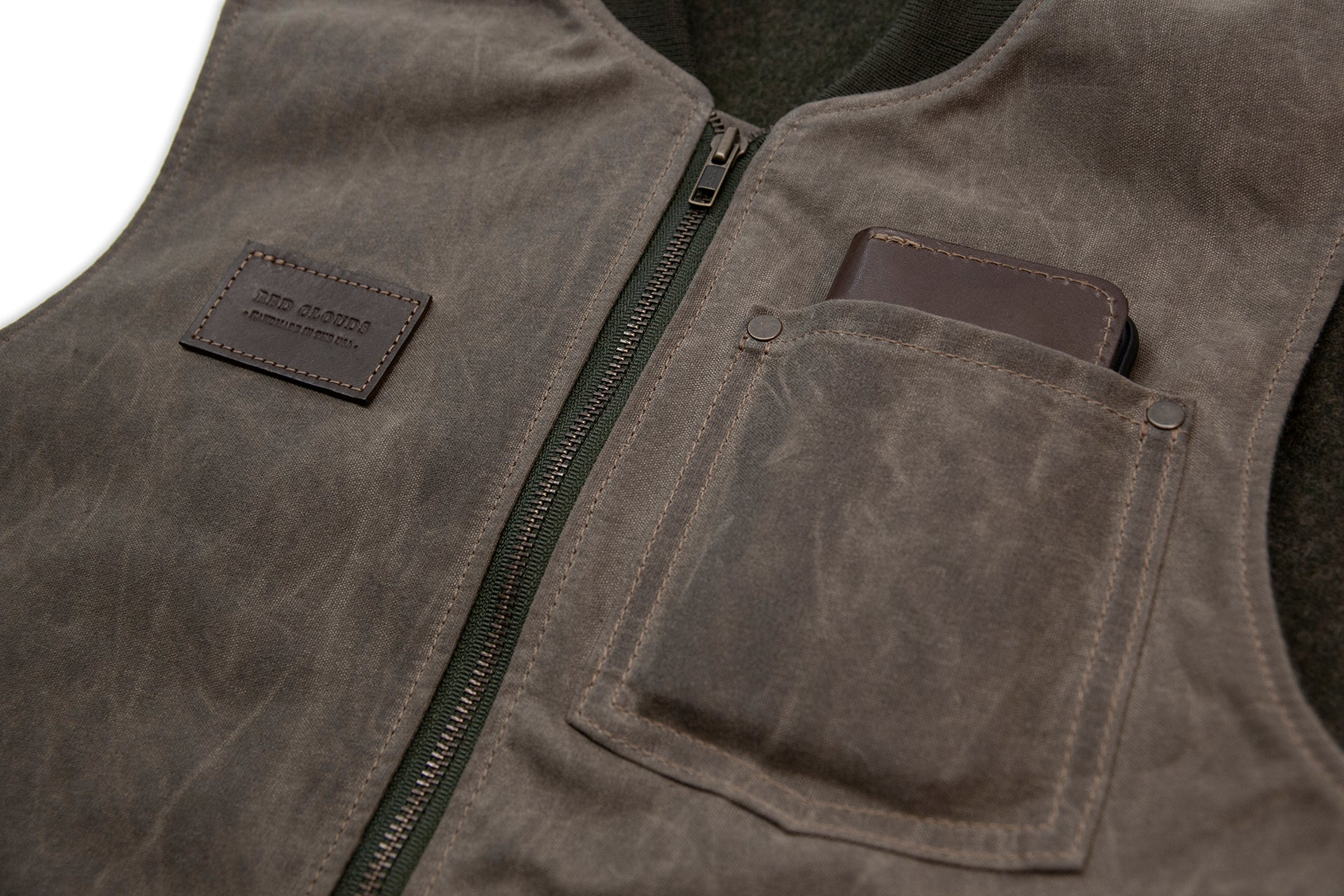 Hawthorne Vest - Brush Brown Waxed Canvas