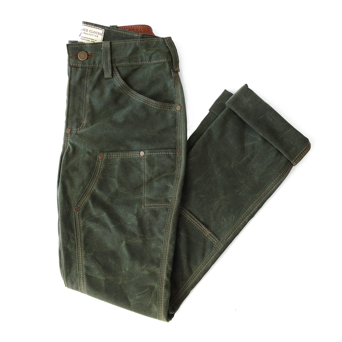 GN.05 Women s Waxed Canvas Fitted Work Pant - Olive - Red Clouds ... 55f3e54b2