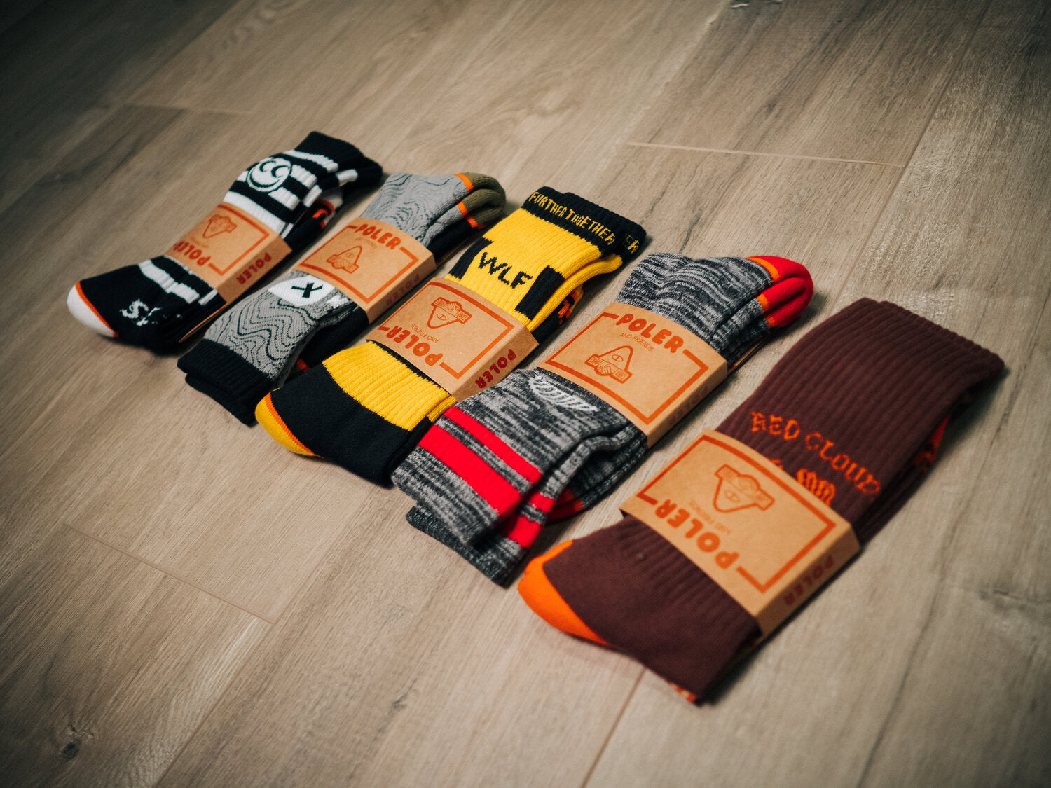 Red Clouds x Poler & Friends Socks