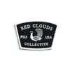 red clouds patch, embroidered patch, portland, usa patch, custom patch