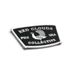 red clouds patch, embroidered patch, portland, usa patch, custom patch, adhesive back