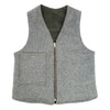 Waxed canvas vest, waxed cotton vest, wool vest, reversible vest, motorcycle vest, made in usa vest, made in usa clothing, made in portland, red clouds vest, reversible waxed canvas wool vest, durable clothing