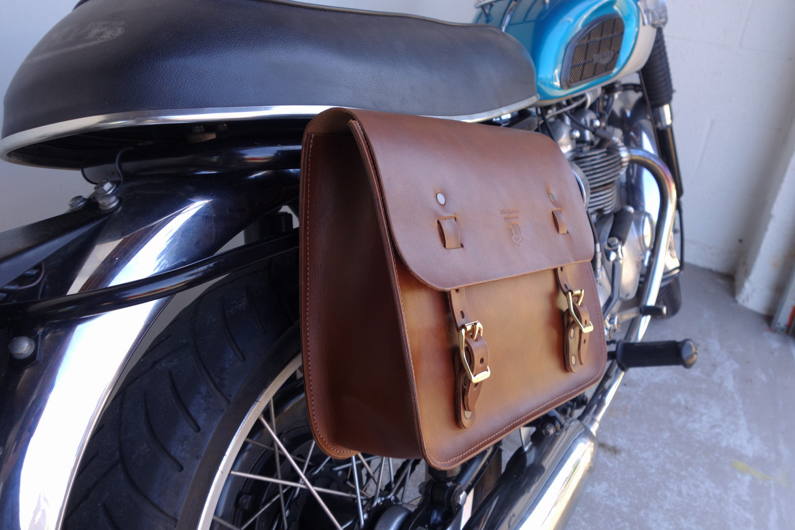 Leather Saddle Bag Saddle Tan Red Clouds Collective