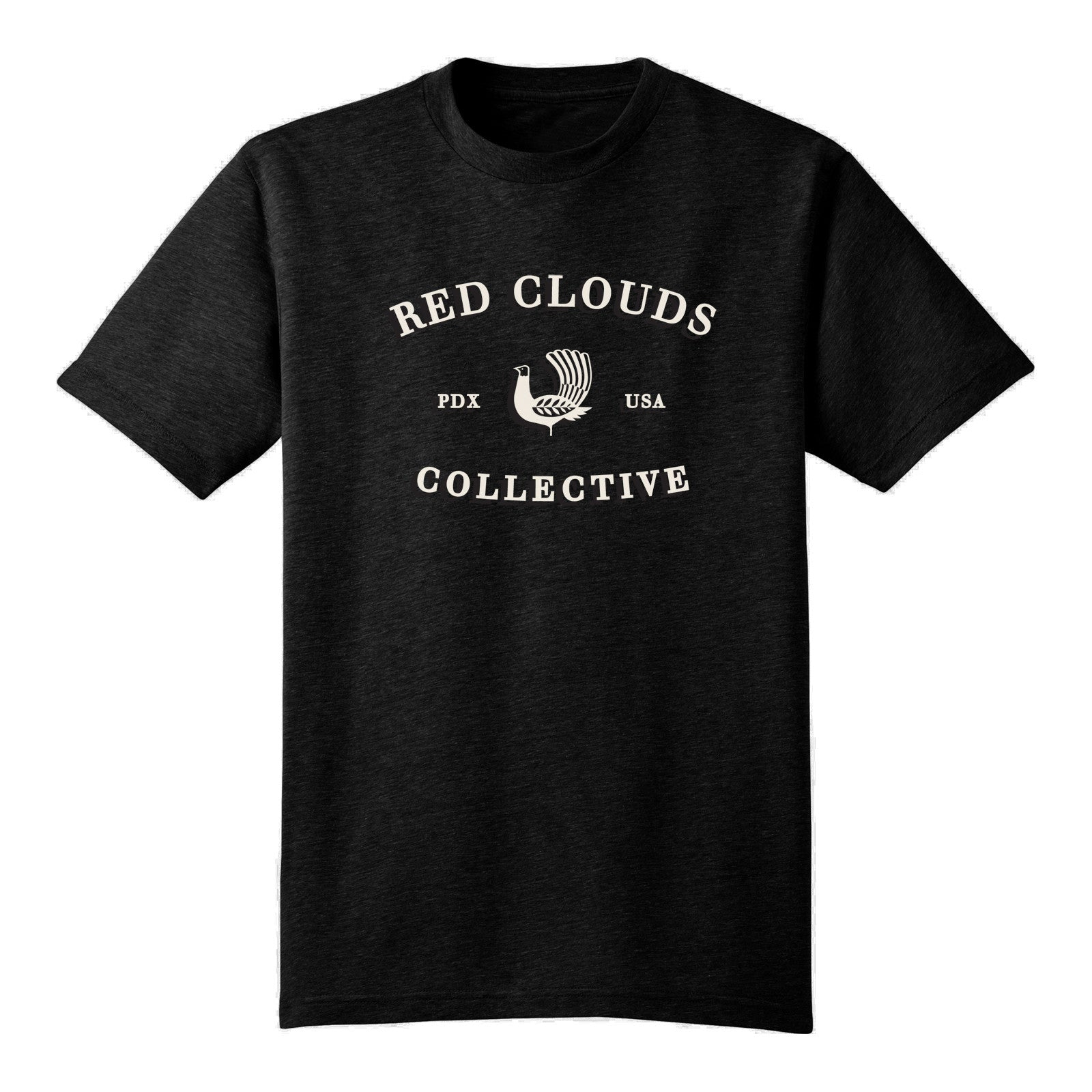 red clouds t-shirt, usa made shirt, t-shirt made in usa, black shirt, black tee, black tshirt, made in usa tee