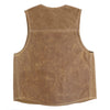 18oz Waxed Canvas Vest - Brush Brown