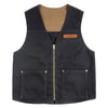 18oz Waxed Canvas Vest - Black