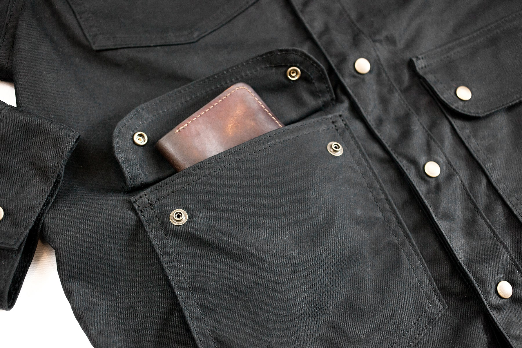waxed canvas jacket, barn coat, chore coat, jacket, waxed canvas, made in usa, made to last, portland, oregon, waterproof, durable, tough, antique brass, best jacket, lumberjack, filson, red clouds jacket, red clouds collective
