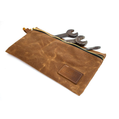 waxed canvas, otter wax, red clouds collective, wax, tin cloth, tool pouch, canvas, tool kit, tool roll, pencil kit, pencil pouch