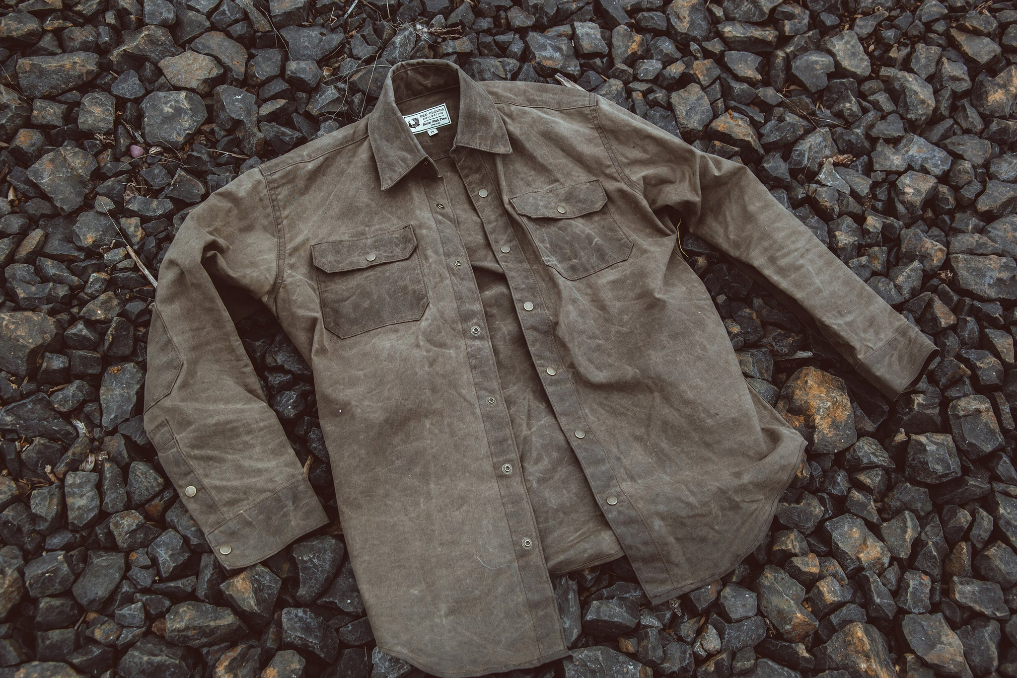 Witham Work Shirt - Havana Waxed Canvas