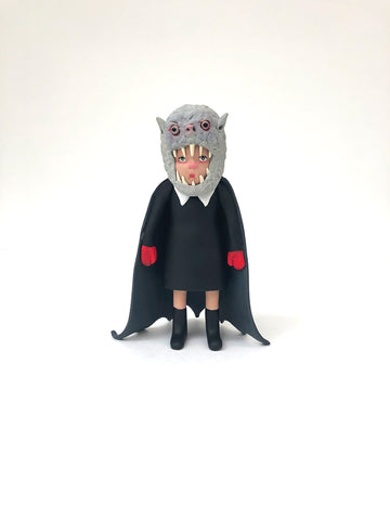 Caped Kiddo (black dress/red mittens)