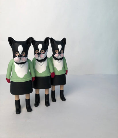 Dog Masked Kiddo (green sweater) one left!