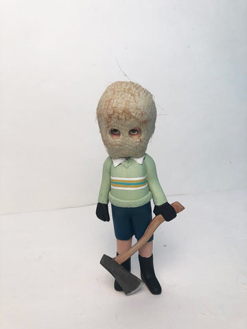 one-off Masked Kiddo with Axe