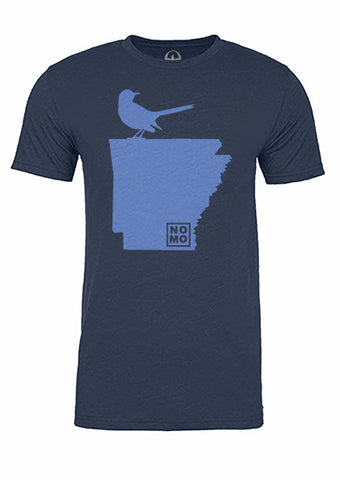 Arkansas State Bird Tee/Light Blue on Navy - Men's