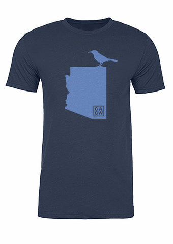Arizona State Bird Tee/Light Blue on Navy - Men's