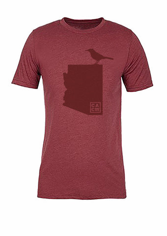 Arizona State Bird Tee/Red on Red - Women's