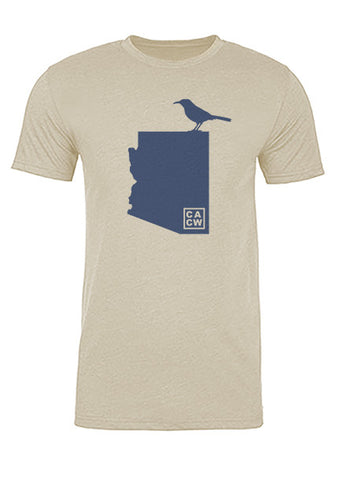 Arizona State Bird Tee/Navy on Antique White - Men's