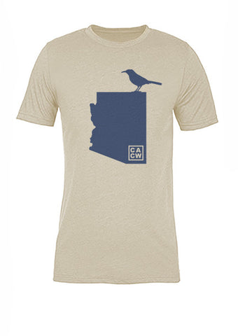 Arizona State Bird Tee/Navy on Antique White - Women's