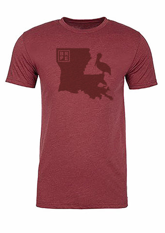 Louisiana State Bird Tee/Red on Red - Men's