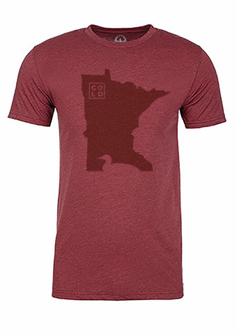 Minnesota State Bird Tee/Red on Red - Men's