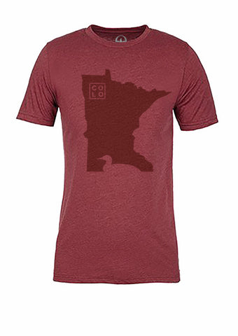 Minnesota State Bird Tee/Red on Red - Women's