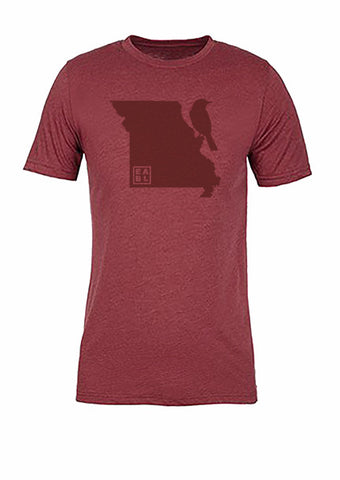 Missouri State Bird Tee/Red on Red - Women's