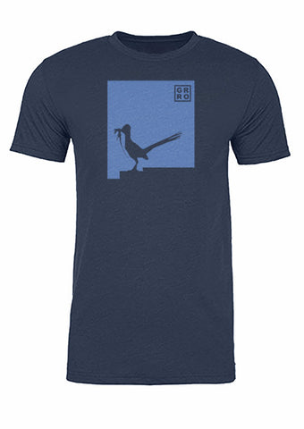 New Mexico State Bird Tee/Light Blue on Navy - Men's