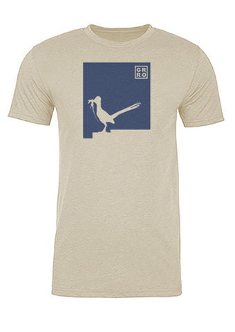 New Mexico State Bird Tee/Navy on Antique White - Men's