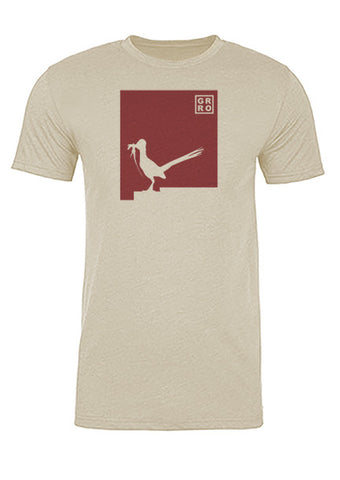 New Mexico State Bird Tee/Red on Antique White - Men's