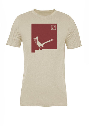 New Mexico State Bird Tee/Red on Antique White - Women's