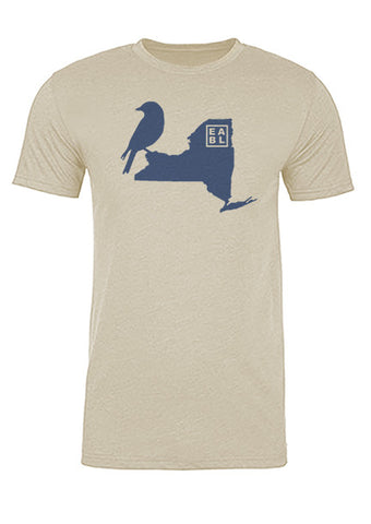 New York State Bird Tee/Navy on Antique White - Men's