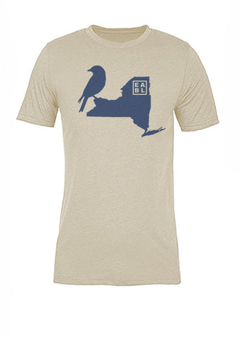 New York State Bird Tee/Navy on Antique White - Women's