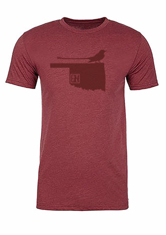 Oklahoma State Bird Tee/Red on Red - Men's