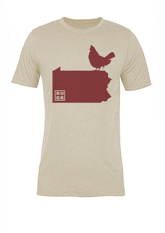 Pennsylvania State Bird Tee/Red on Antique White - Women's
