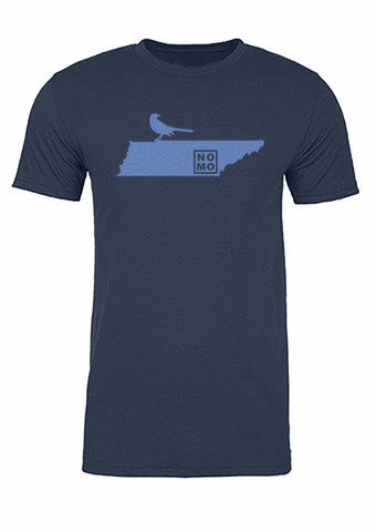 Tennessee State Bird Tee/Light Blue on Navy - Men's