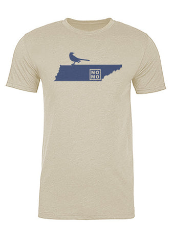 Tennessee State Bird Tee/Navy on Antique White - Men's