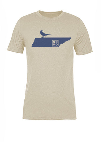 Tennessee State Bird Tee/Navy on Antique White - Women's