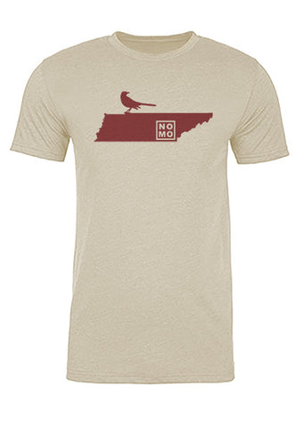 Tennessee State Bird Tee/Red on Antique White - Men's