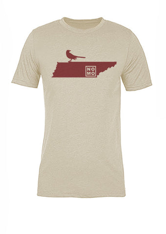Tennessee State Bird Tee/Red on Antique White - Women's