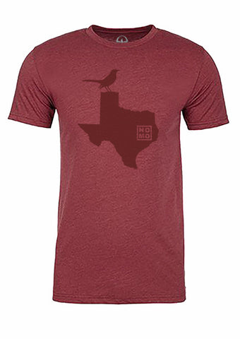 Texas State Bird Tee/Red on Red - Men's