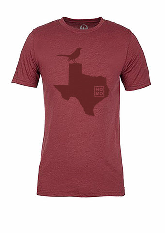 Texas State Bird Tee/Red on Red - Women's